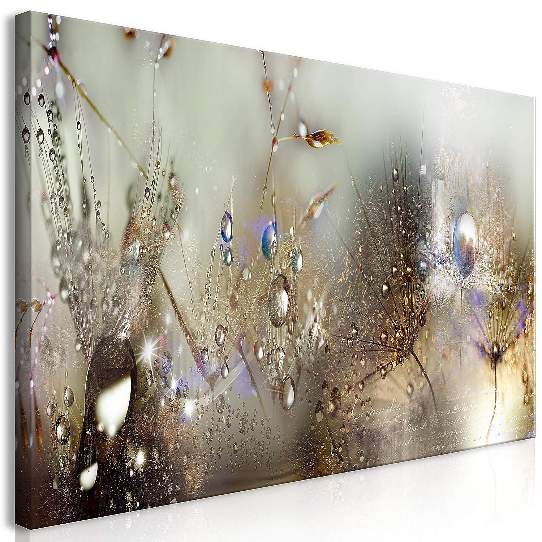 Murando Mega XXXL Pusteblume Wandbild 160x80 cm - Einzigartiger XXL Kunstdruck zum Aufhängen Leinwandbilder Moderne Bilder Wanddekoration - Blumen Natur grau Pusteblumen b-C-0169-ak-g