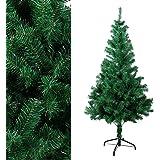 OZAVO, albero di Natale artificiale DA 120-150-180-210 cm, ignifugo in verde e neve bianca, con pigne, inclusabase in metallo grün 150