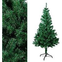 OZAVO Weihnachtsbaum künstlicher, Tannenbaum 120/150/180/210 cm, Christbaum in grün, inkl. Metallständer, schwer entflammbar