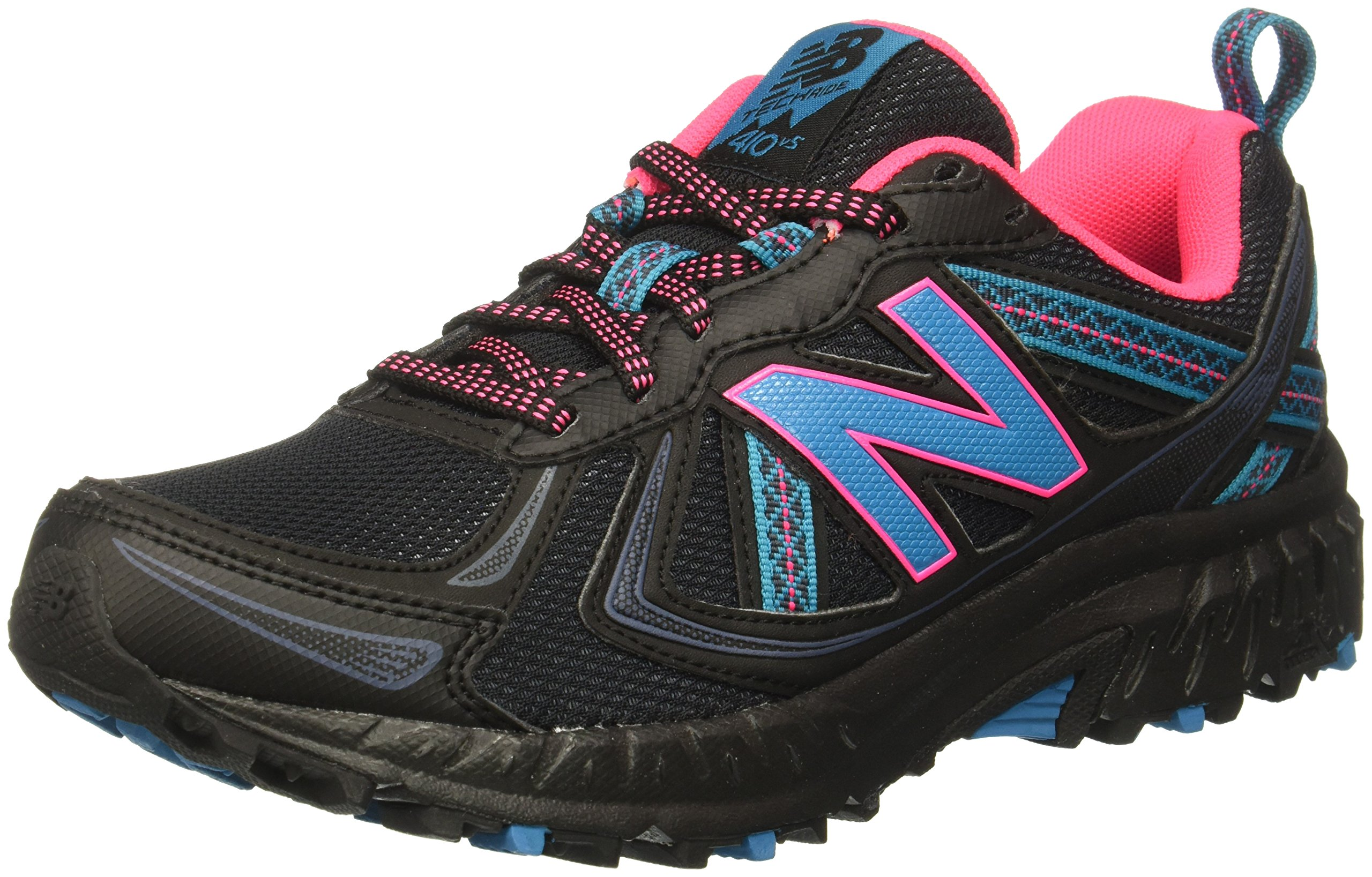 New Balance Women's WT410v5 Cushioning Trail Running Shoe, Black, 5.5 B US by New Balance