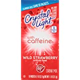 Crystal Light On The Go Caffeine Wild Strawberry, 10 Count Boxes (Pack of 12)
