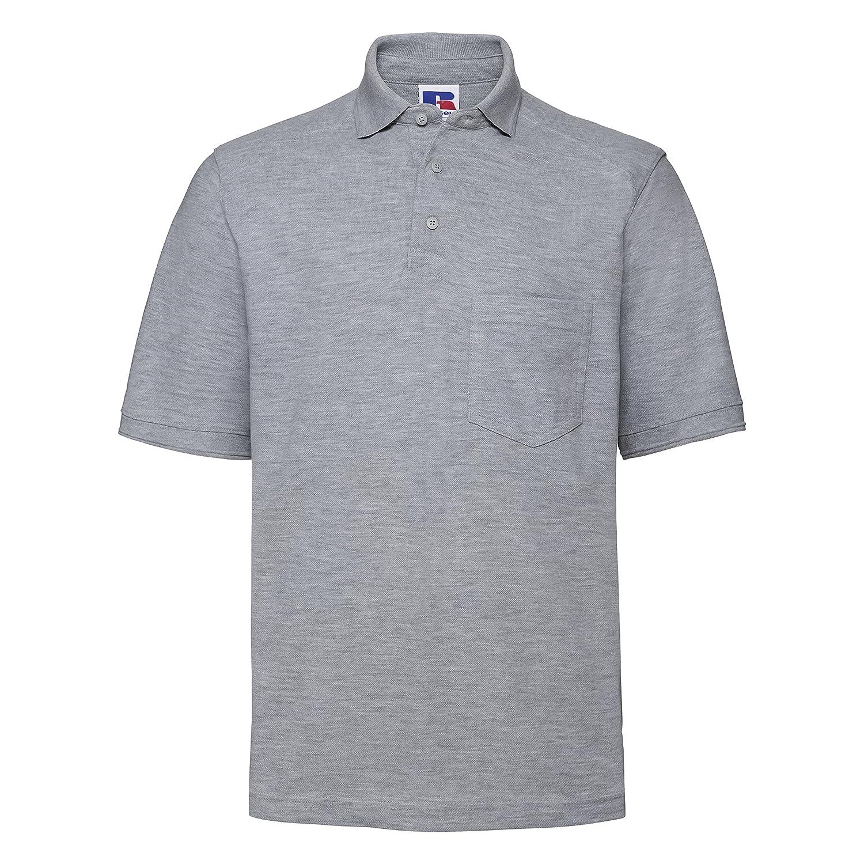 Russell Workwear Mens Heavy Duty Short Sleeve Polo Shirt