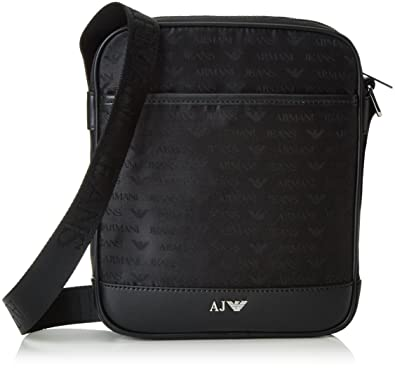 Armani Jeans Men s 932525CC993 Shoulder Bag Black Schwarz (NERO 00020)  25x5x21 cm c55264d032bac