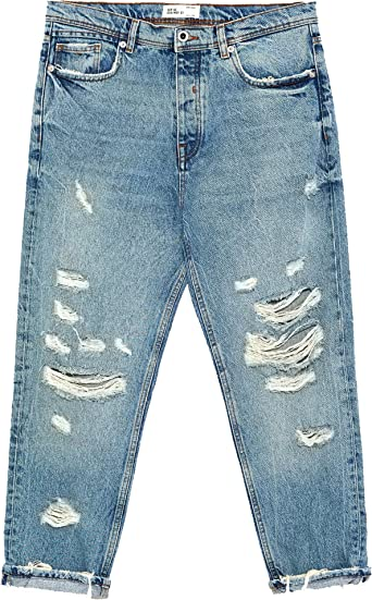 Zara Men S Jeans Blue Blue Blue 28 Amazon Co Uk Clothing
