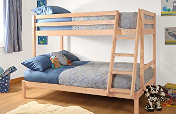 Comfy Living Triple Durleigh Wooden Bunk Bed 3ft 4ft With Kerri
