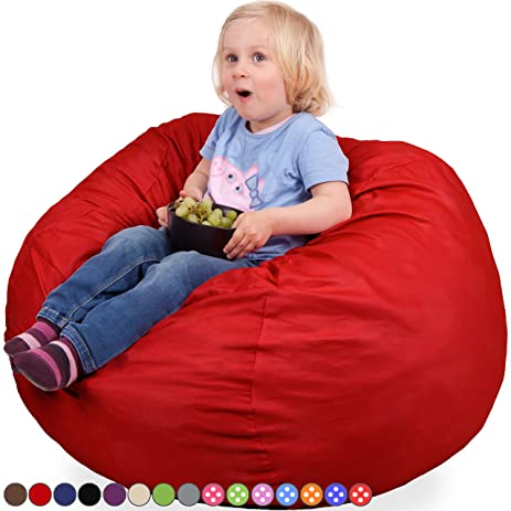 Oversized Bean Bag Chair In Flaming Red   Machine Washable Big Soft Comfort  Cover With Memory