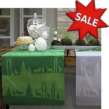 sander Tischläufer DUSK TILL DAWN 47 x 150 cm Weihnachten (02 - grün ...