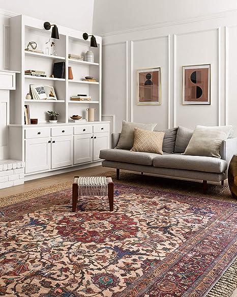 Loloi Loren Collection Vintage Printed Persian Area Rug 3 6 X 5 6 Sand Multi Furniture Decor