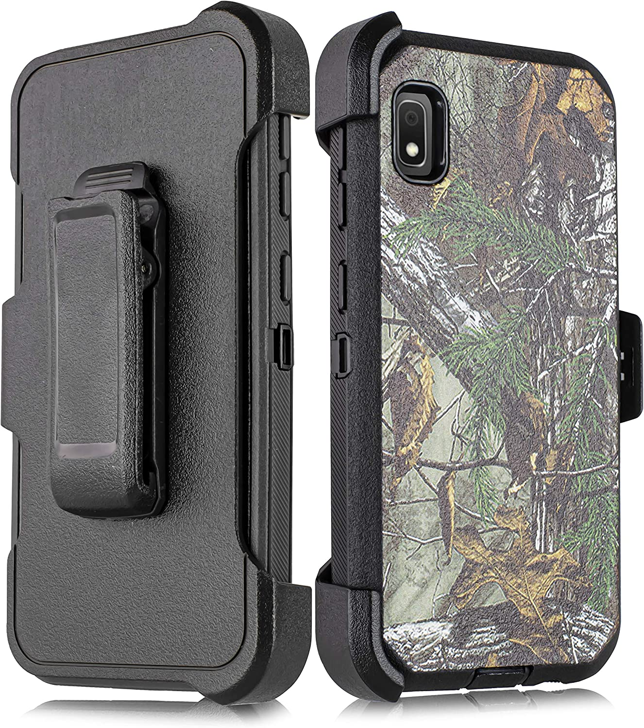 Samsung Galaxy A10e case,Heavy Duty Hard Shockproof Protector Shield Case Cover with Belt Clip Holster for 2019 Samsung Galaxy A10E Black