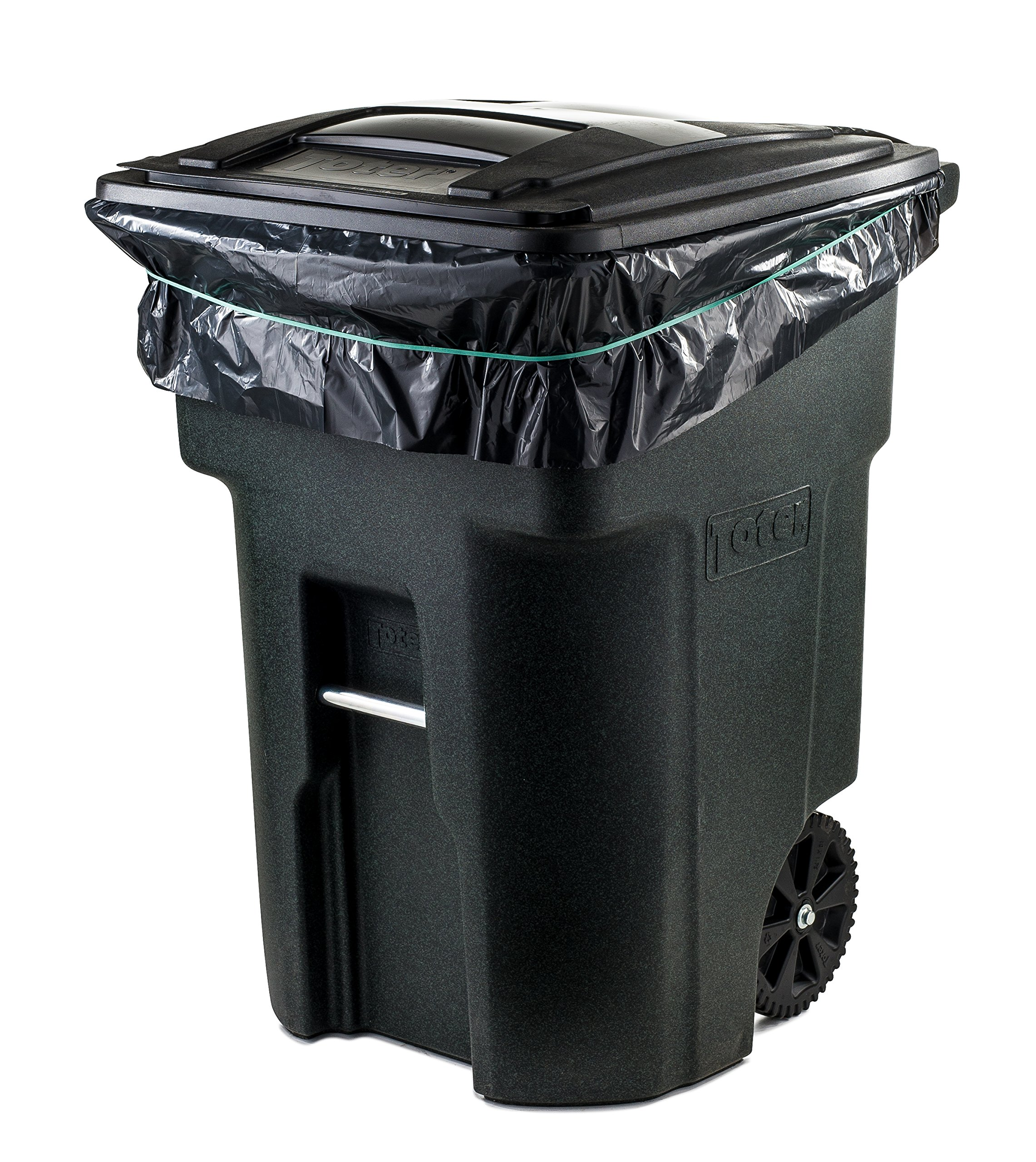 Plasticplace 95 Gal Trash bags, Black, 2 Mil, 61x68, 25 Bags per Case by Plasticplace (Image #3)