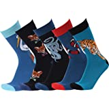 Mens Animal Funny Designed Cotton Novelty Casual Crew Socks