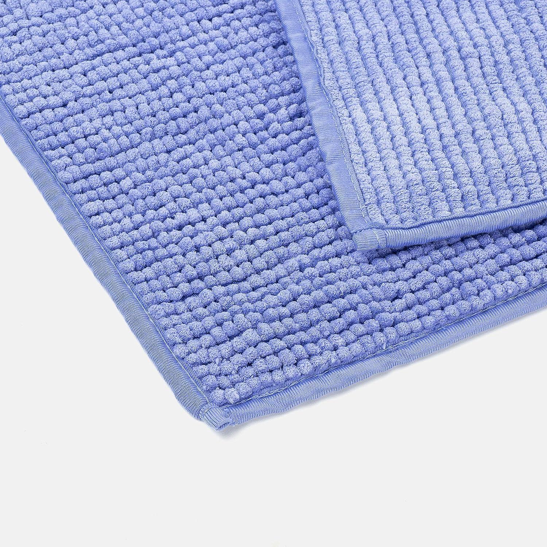 Carrefour Tex Alfombra de Ba/ño Chenilla 50 x 70 cm Azul Matizado