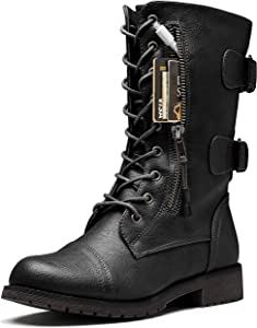 DailyShoes Ankle Combat Pocket Boots