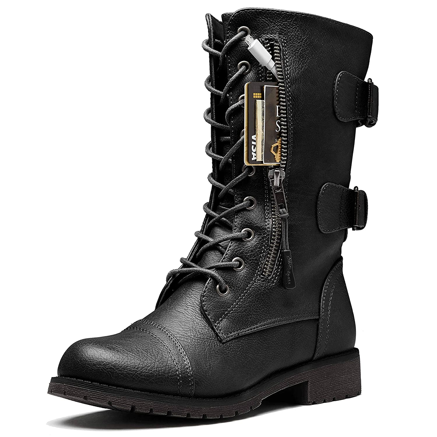 DailyShoes Women's Motorcycle Ankle Boot