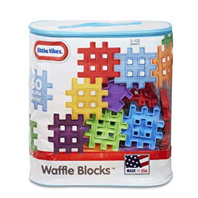 Little Tikes Waffle Blocks Bag (60 Piece): Toys & Games