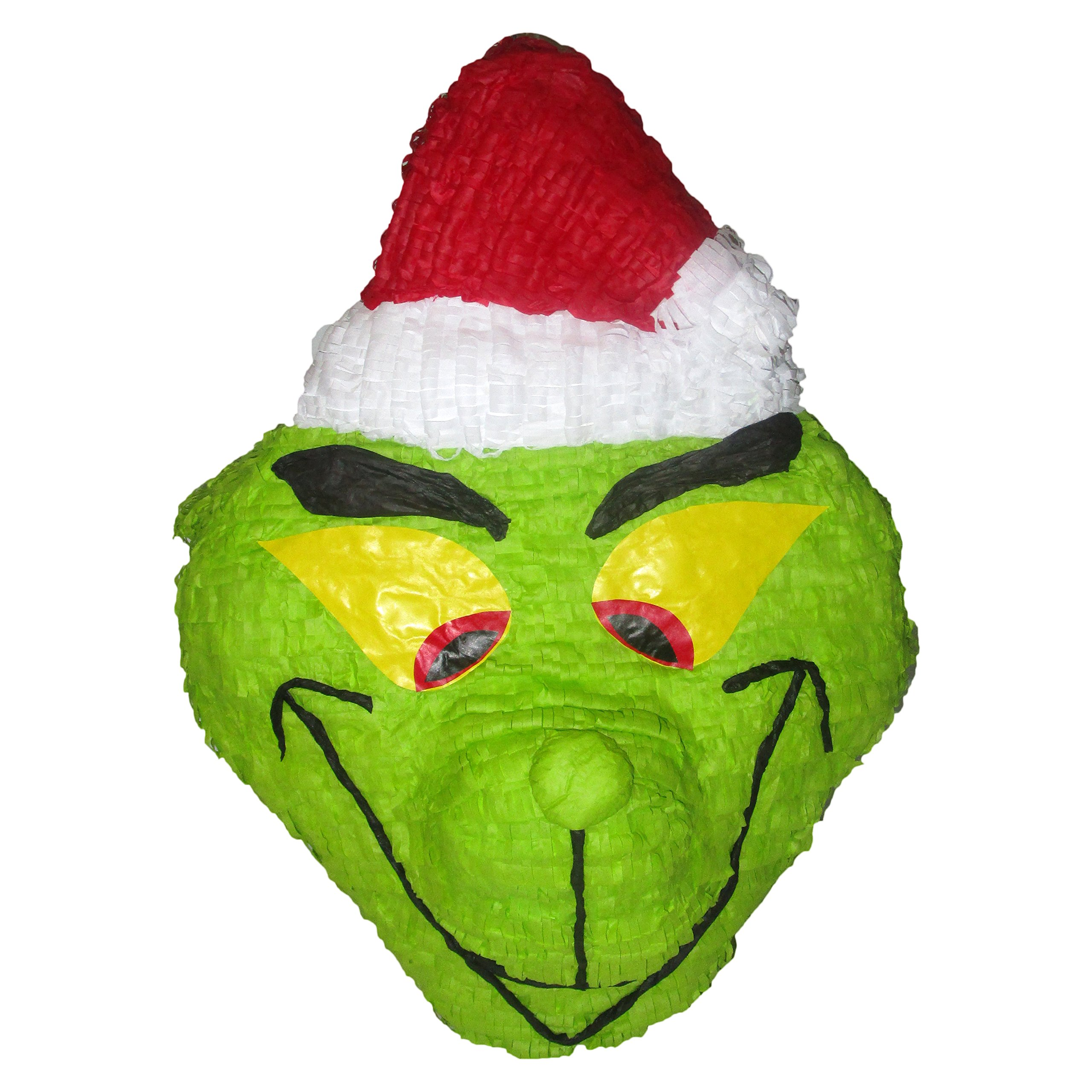 Grinch Head Pinata, 21'' Christmas Decoration, Party Game and Photo Prop by Pinatas