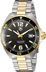 TAG Heuer Mens Formula 1 Swiss Quartz Gold-Tone and Stainless Steel Dress