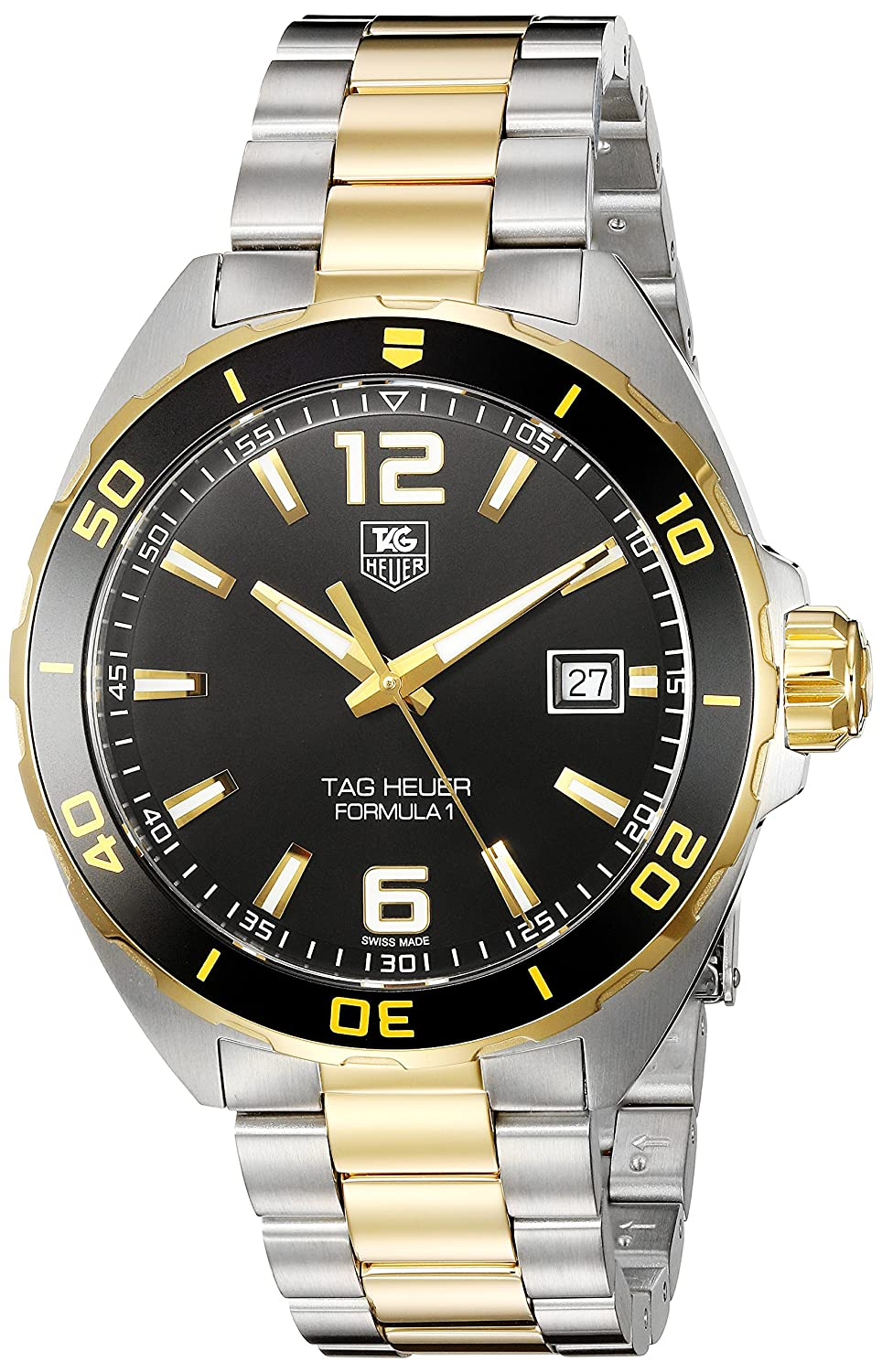 TAG Heuer Men s Formula 1 Swiss-Quartz Watch with Two-Tone-Stainless-Steel Strap, 20 Model WAZ1121.BB0879