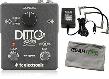 Amazon.com: TC Electronic Ditto Jam X2 Looper Effects Pedal w/Power Supply, Cloth, and 2 Patch Cables: Musical Instruments