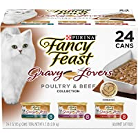 Purina Fancy Feast Gravy Lovers Poultry & Beef Feast Collection Wet Cat Food Variety...