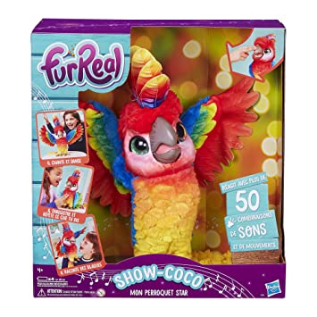 Amazon.es: FurReal Friends - Show-Coco, mi Loro - Peluche Interactive - E0388