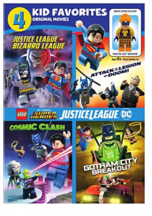 Amazon Com 4 Kid Favorites Lego Dc Super Heroes Artist Not Provided Movies Tv