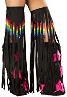 J. Valentine Women's Beaded Fringe Leggings