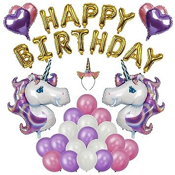 FT-SHOP Unicornio Fiesta Decoración Unicornio cumpleaños ...