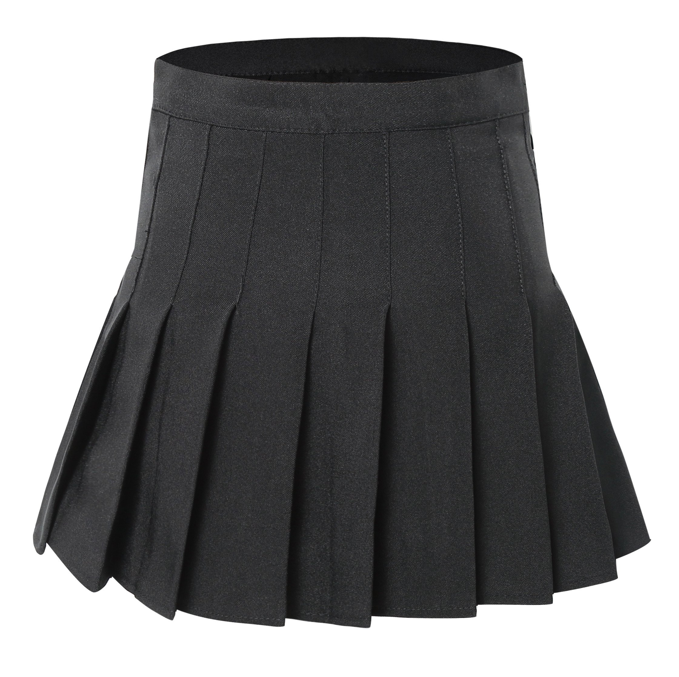 Tremour Women's High Waisted Pleated Mini Fancy Dress Costumes Skirts Black S