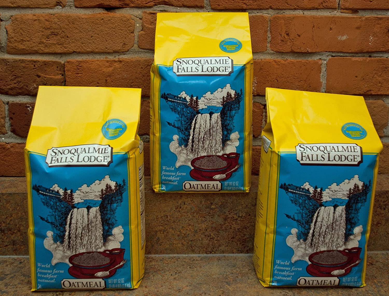 Snoqualmie Falls Lodge Oatmeal 52oz (3 Pack)