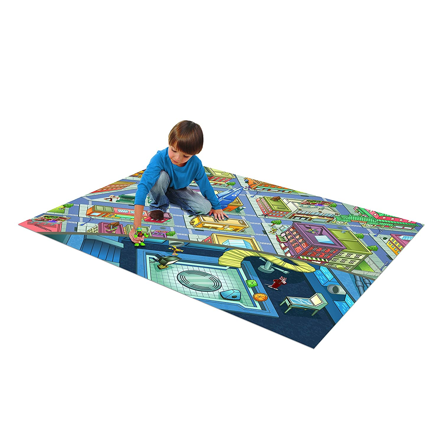 Amazon.com: Teenage Mutant Ninja Turtles Jumbo Mega Mat with Vehicle ...