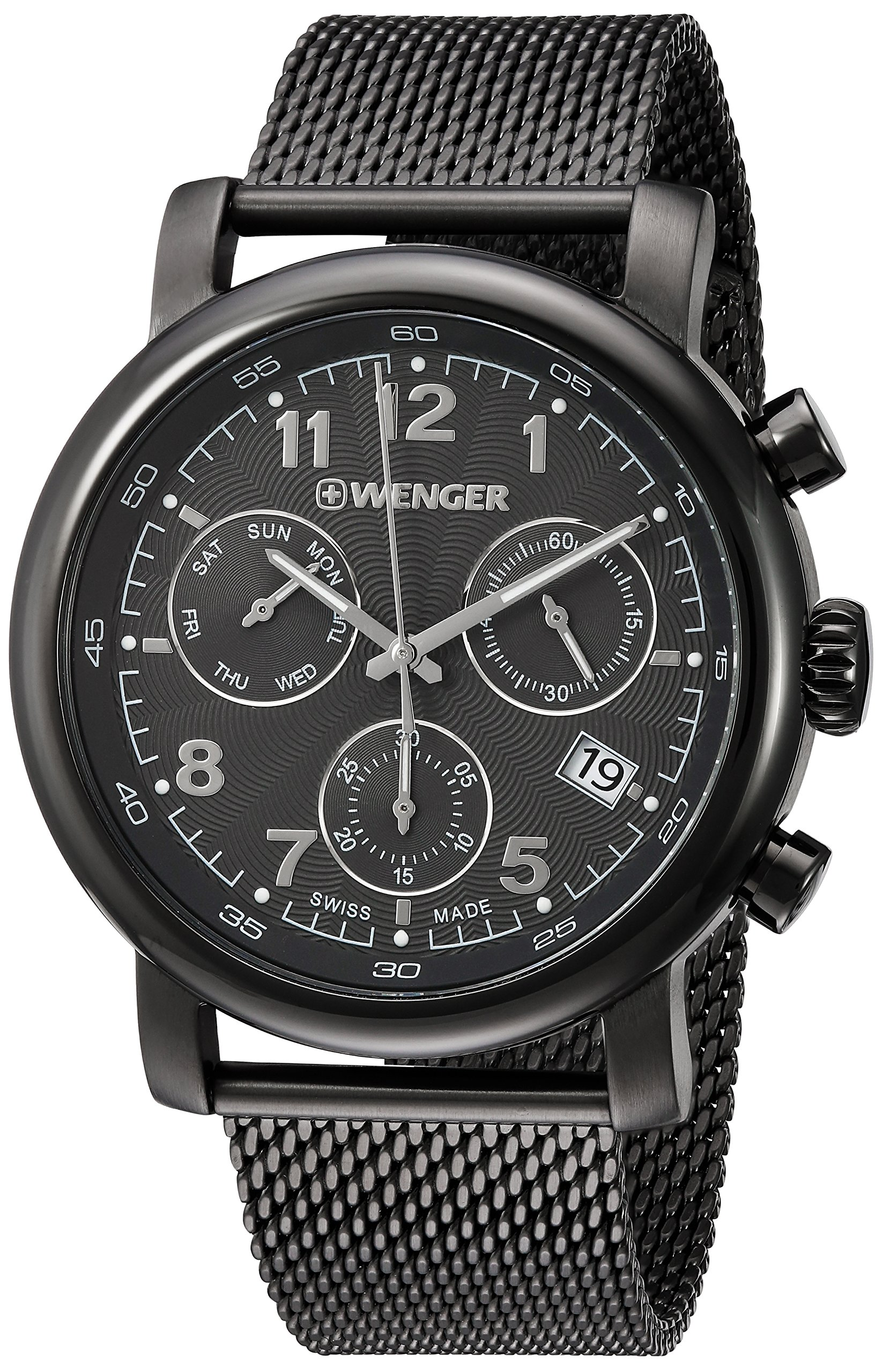 Galleon - Wenger Men s  Urban Classic Chrono  Swiss Quartz Stainless Steel  Casual Watch 9195ede7d6c
