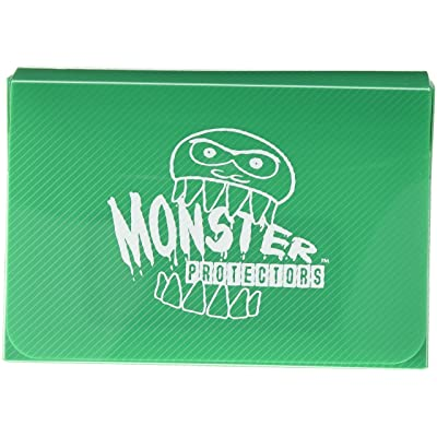 Monster Protectors Trading Card Double Deck Box with Self-locking Magnetic Closure - Green (Fits Yugioh, Pokemon, Magic the Gathering Cards): Toys & Games