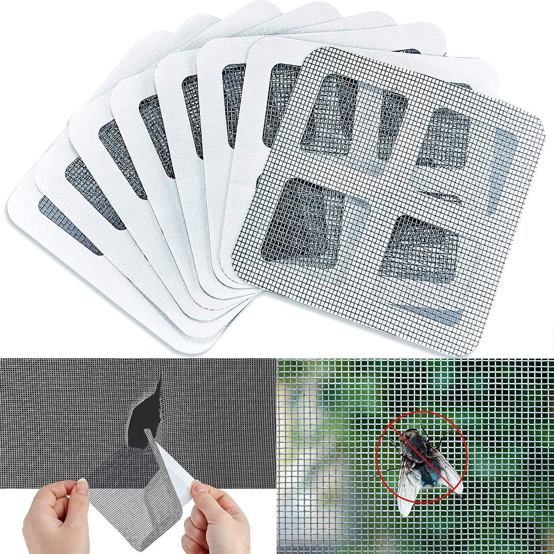 Window Screen Repair Kit Strong Self Adhesive Screen Patch Waterproof for Anti-Insect//Mosquito Net Loophole Repair Patch Avatarr Screen Door Repair Kit