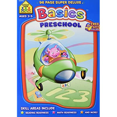 School Zone Preschool Basics Ages 3-5 Super Deluxe Workbook: Home & Kitchen