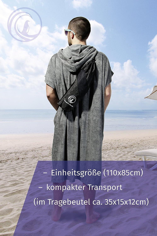 poncho de surf con capucha Penguin Poncho bolsillo y bolsa de transporte; talla /única para hombre y mujer; poncho de playa; sirve como toalla