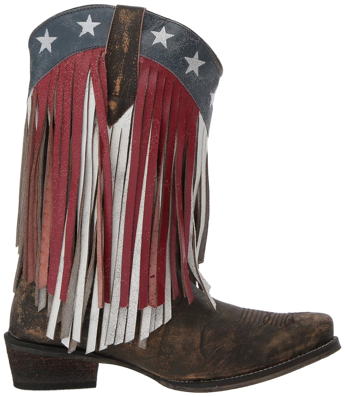 Roper Women's American Beauty Fringe Western Boot B07BFDKMMC 11 D US|Brown