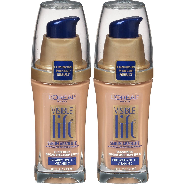 L'Oreal Paris Cosmetics Visible Lift Serum Absolute Foundation, Natural Buff, 1 Fl Oz (2 Count)
