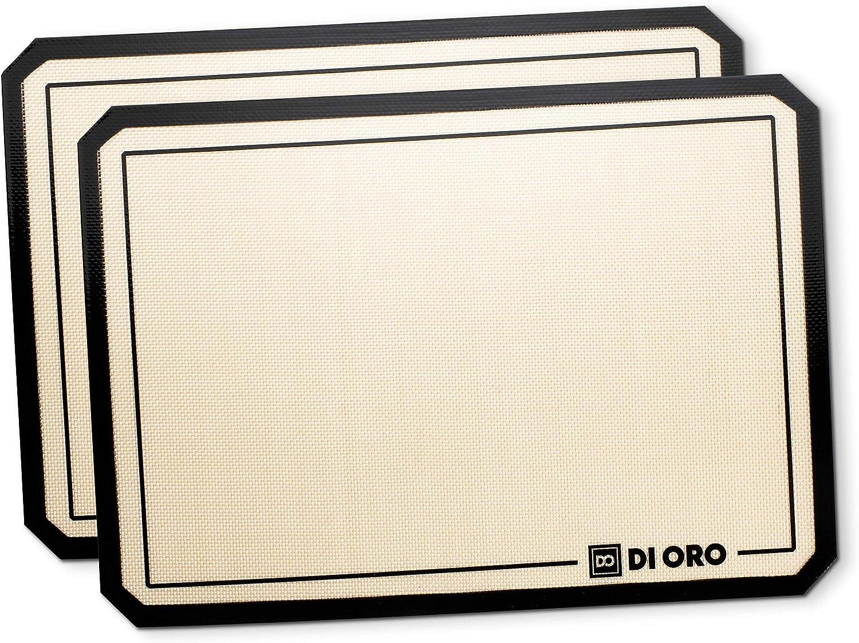 Di Oro Pro-Grade Silicone Baking Mat - Nonstick Silicone Baking Sheets - 480°F Heat Resistant - 16 1/2