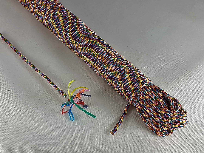 ANBP Cuerda de polipropileno multicolor, 30 m, 3 mm, 4 mm, 5 ...