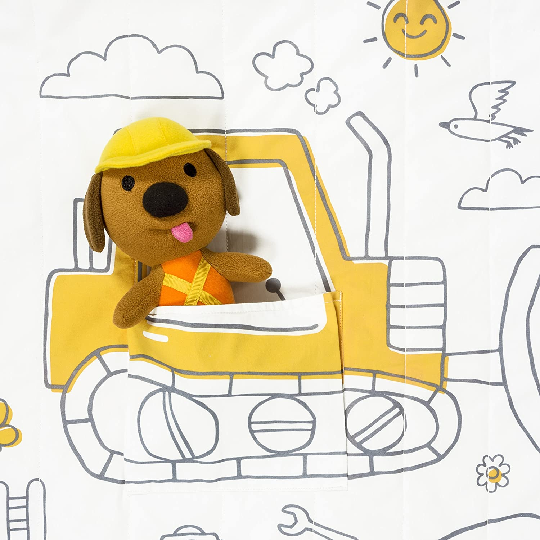 Sago Mini Trucks /& Diggers Tuck Me In Quilt