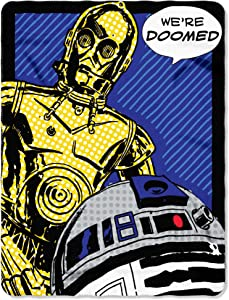 "Disney Star Wars, ""Doomed"" Fleece Throw Blanket, 45"" x 60"", Multi Color"