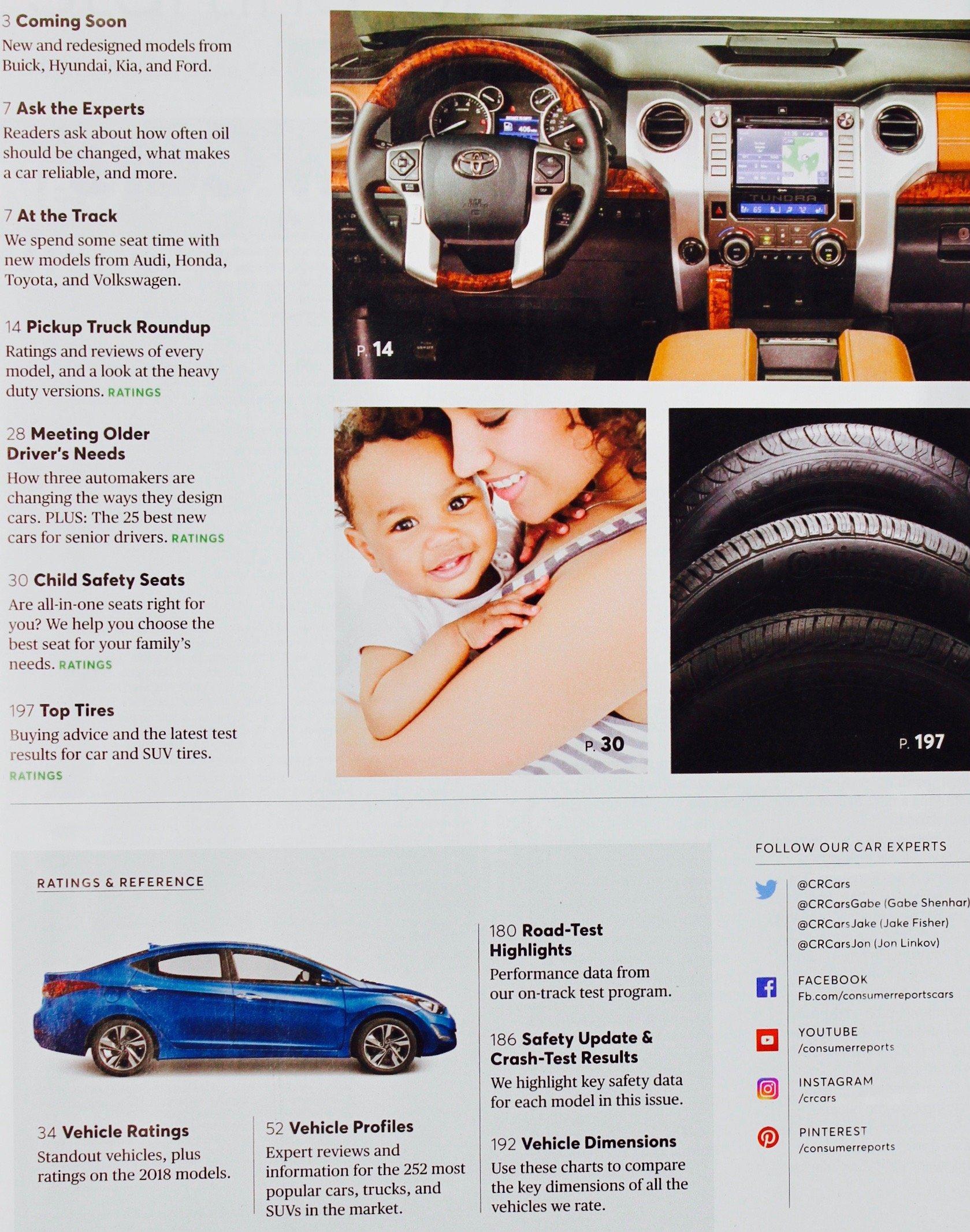Consumer Reports Buying Guide New Cars, Trucks, SUVs November 2017 ...
