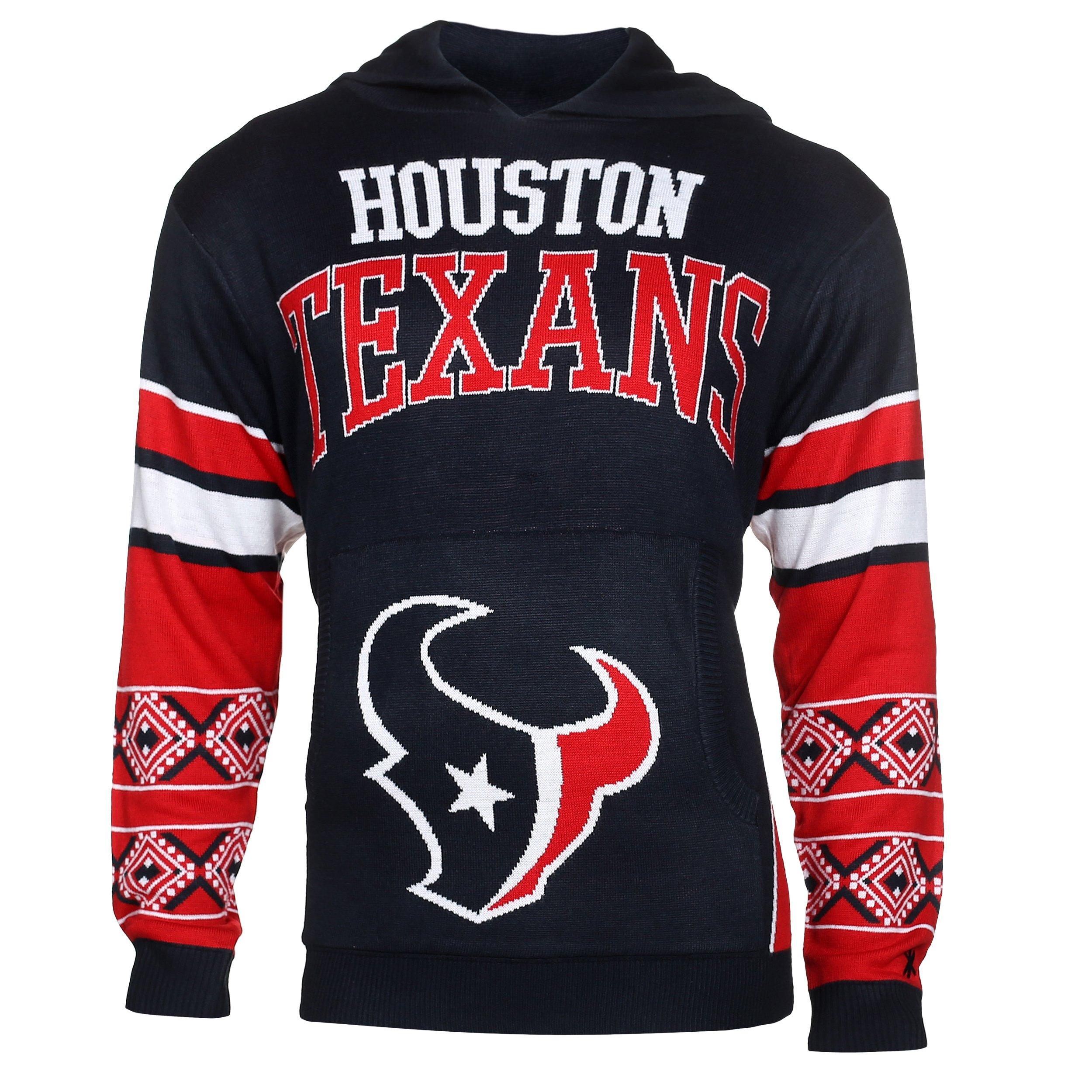 Houston Texans Big Logo Hooded Sweater Large