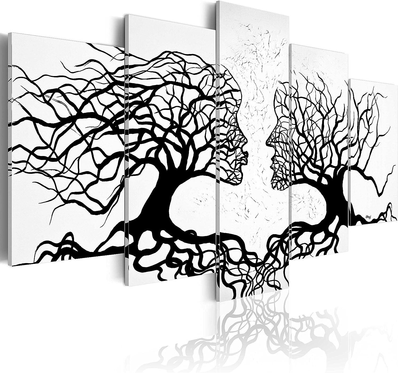 murando - Cuadro en Lienzo 200x100 - Impresión de 5 Piezas Material Tejido no Tejido Impresión Artística Imagen Gráfica Decoracion de Pared Abstracto a-A-0104-b-m