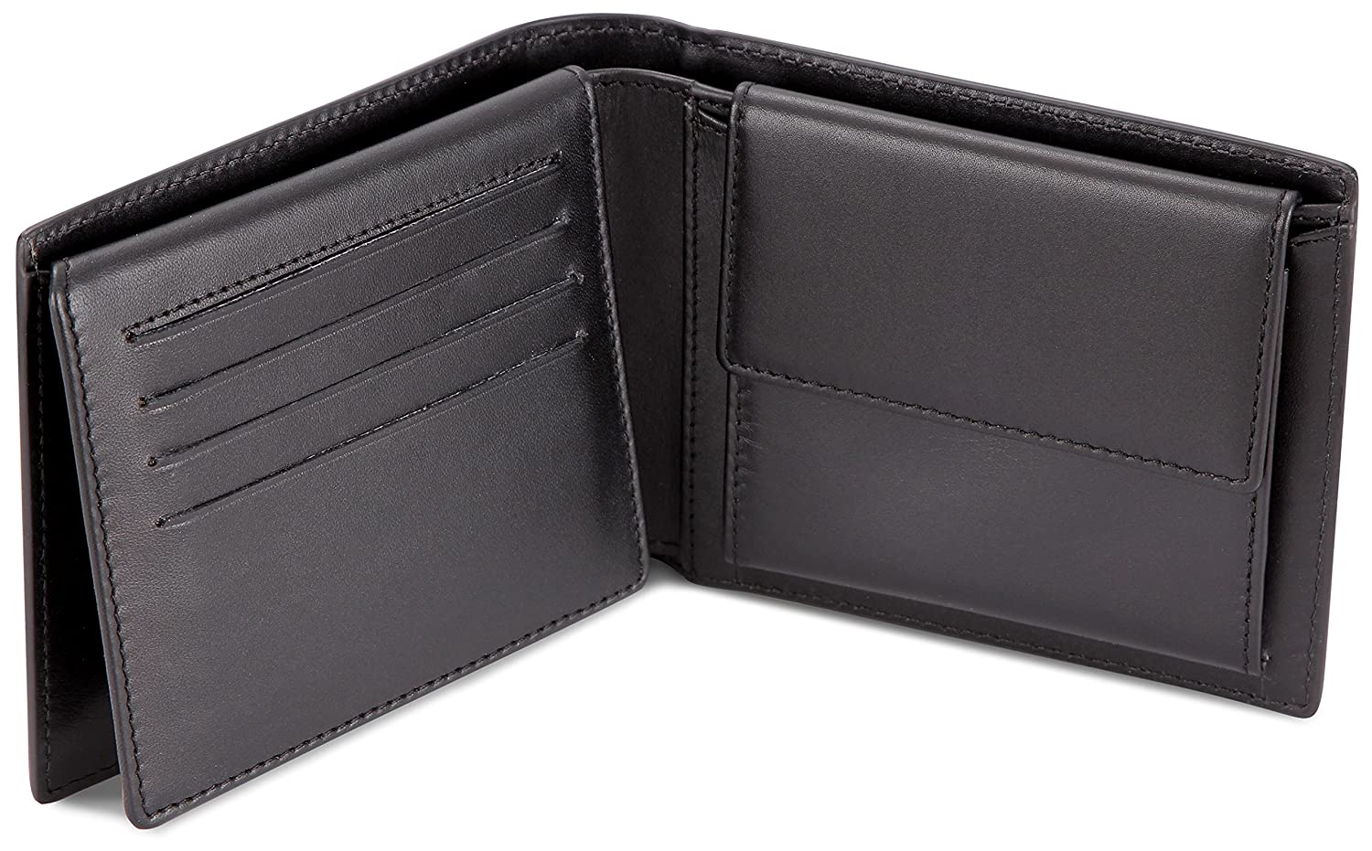 LEABAGS Illinois genuine calfskin leather wallet in vintage style