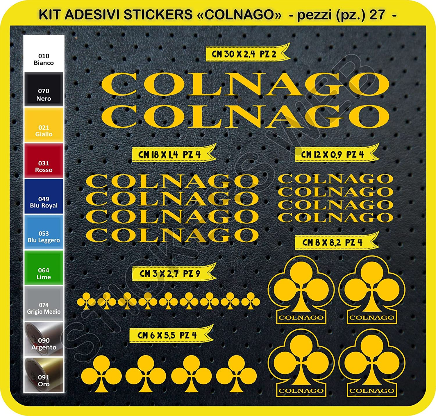 Bike Cycle Bike Stickers Pegatina Cod.0092 Colnago Kit Stickers Stickers 27/pieces/ /Choose immediately colore