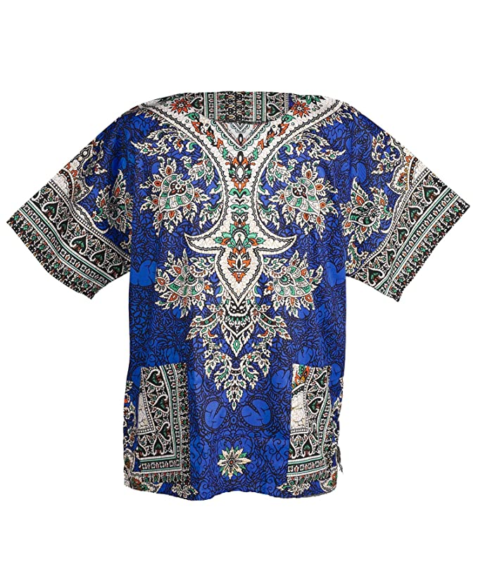 Vintage Shirts – Mens – Retro Shirts Lofbaz Traditional African Unisex Dashiki Shirt color Tribal Festival Hippie £17.18 AT vintagedancer.com