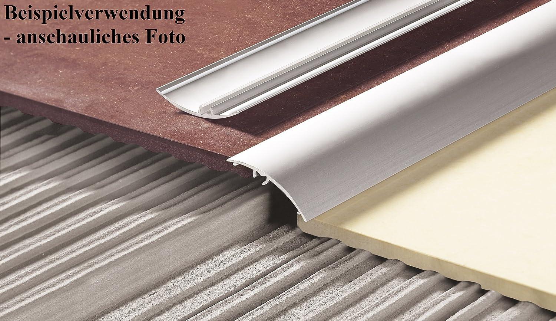 or CEZAR Barre de seuil de porte en aluminium avec fixations W-AL-LW40-C23-100