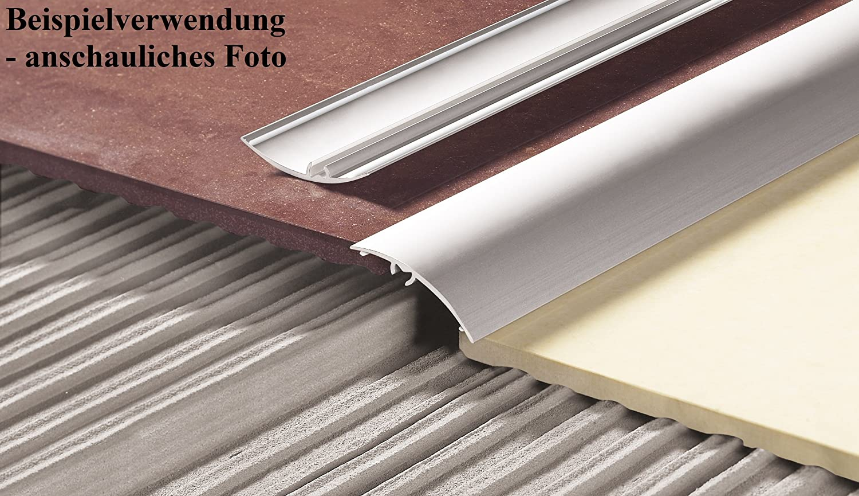 CEZAR /Übergangsprofil 50 x 1000 mm Gold /Übergangsschiene mit Befestigungsstifte Schutzleiste Aluminium-T/ürschwelle